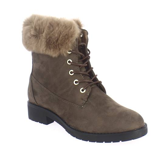 Bottines Lacets Et Fourrure Retro 1475 Taupe Retroshoes